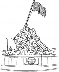 memorial veterans day coloring page