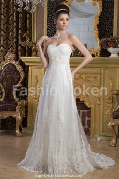 outdoor fall Wedding Dresses | ... Sleeveless A-Line Spring/ Fall Wedding Dress -Wedding Dresses