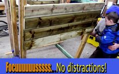 No distractions while in the process of constructing your kid's pirate ship style playhouse. Paying attention to your actions is imperative, especially when dealing with high powered tools. Try to avoid distractions and be sure that you keep your eyes on the blade while cutting at all times.
