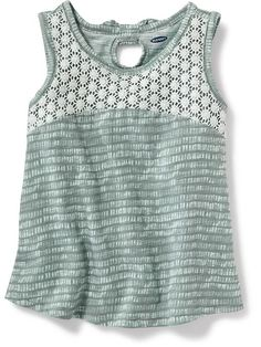 Crochet-Yoke Swing Tank for Baby  Product Image