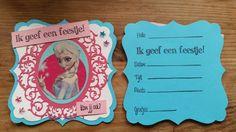 Marianne's cards-Uitnodiging Frozen voor kinderfeestje