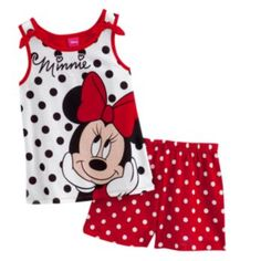 Disney Mickey Mouse and Friends Minnie Mouse Polka-Dot Pajama Set - Girls Disney Baby Clothes, Disney Outfits, Baby Disney, Disney Mickey, Mickey Mouse, Little Girl Outfits, Toddler Outfits, Kids Outfits, Kids Nightwear