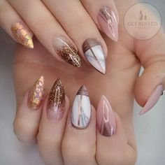 Luxury. Gills gold, gold dust and marble are my inspiration for this manicure.