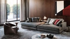 HAMILTON - Designer Sofas from Minotti ✓ all information ✓ high-resolution images ✓ CADs ✓ catalogues ✓ contact information ✓ find your. 1950s Furniture, Sofa Furniture, Furniture Sets, Furniture Design, Sofa Design, Hamilton Sofa, Family Room Furniture, Sofa Price, Furniture Factory