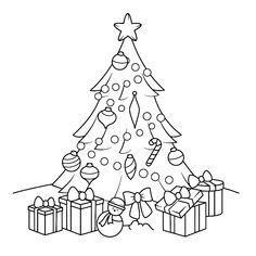 Een kerstboom met cadeau's