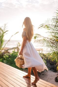 Gal Meets Glam Our Full 5 Day Tulum Travel Guide - J.Crew swimsuit top, Miguelina skirt & Indego Africa bag