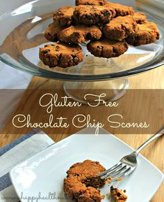 Gluten Free Chocolate Chip Scones - Happy Healthnut