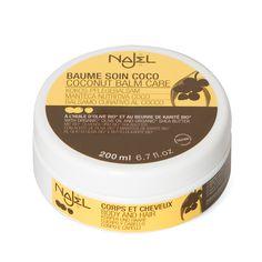 Baume soin coco Najel à l'huile d'olive bio*et au beurre de karité bio*. Un élixir de beauté pour tous !