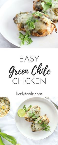 Green Chile Chicken is the perfect easy and healthy chicken dish to spice up.