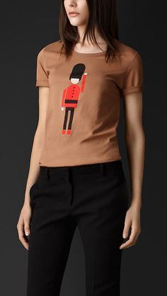 GUARD COTTON T-SHIRT Burberry Polo T Shirts, Burberry Prorsum, Coco Chanel, 2c86ce8e69a