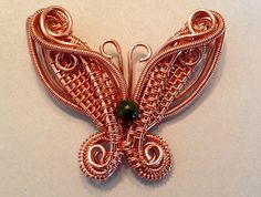 This lovely butterfly pendant, measures 1.5 x 1.5. Full of pretty swirls and weaves,depicting 64 clearly written steps, with accompanying full-color photographs. This tutorial is geared to advanced weaving experience.  ***All tutorials are non refundable once downloaded.