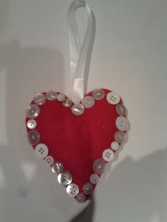 Heart with vintage buttons