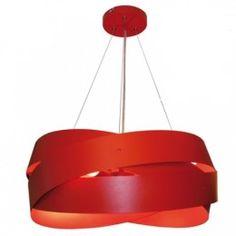 TORNADO stropný luster Lis 5010, červený