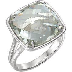 68715 / Sterling Silver / 14.00 Mm / Polished / Gen Green Quartz Ring
