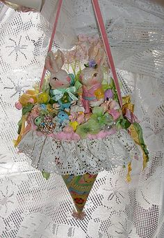Honey Bunny Easter Tussie Mussie by treasured2 on Etsy, $35.00