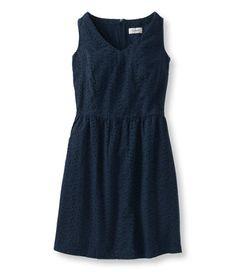 Bar Harbor V-Neck Dress, Eyelet: Dresses | Free Shipping at L.L.Bean