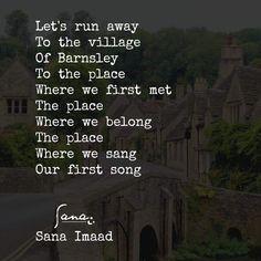 Let's run away to Barnsley! ❤️ _____________________________ #instadaily #instaart #instagood #storyteller #story #writersofinstagram #authorsofinstagram #artsy #arts #reader #writersnetwork #literature #reading #writerscorner #expression #writing #followme #author #poetry #poetrycommunity #writer #artist #creator #uk #love #passion #sanaimaad