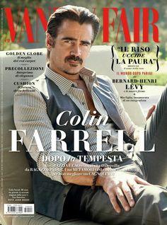 Colin Farrell Dons Dolce & Gabbana for Vanity Fair Italia Cover Shoot.