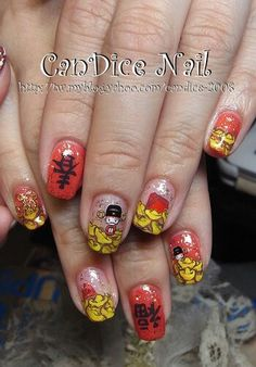 Chinese new year nails my nails pinterest new years nails chinese new year nails art prinsesfo Choice Image