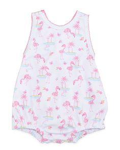 af363cc81 Kissy Kissy Flamingo Island Pima Playsuit, Pink, Size 0-9 Months