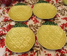 Cemar Pineapple Small luncheon plates