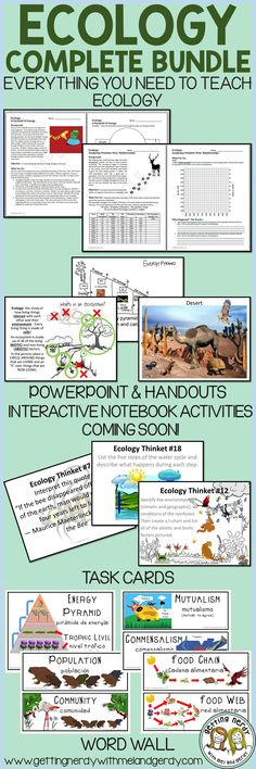 My Ecology curriculum is complete with this bundle!
