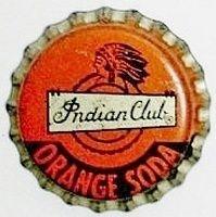Indian Club Orange Soda, bottle cap | Cola Root Beer Bottling Co., Sacramento, California USA