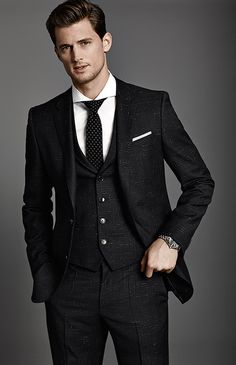 """""""Hattrick"""" Suit from Hugo Boss Modern Minimalism Collection AW14"""