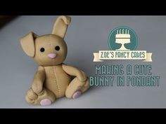 Fondant Easter bunny cake topper chocolate egg how to make fondant bunny tutorial cake decorating - YouTube