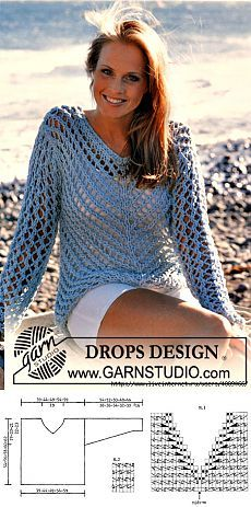 SWEATER PATTERN & quot; Fishnet & quot; FROM Drops