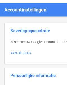 Easy Cloud Computing NL: Nieuw MyAccount.Google.com