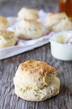 Greek Yogurt Biscuits Recipe on twopeasandtheirpod.com Fluffy and tender biscuits made with Greek Yogurt!