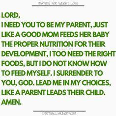 Prayer for heslthy eating