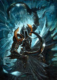 Original Diablo 3 Reaper of Souls Malthael The Angel of Death by Simon Bisley Comic Art Auction