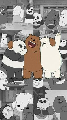 Cute Panda Wallpaper, Cute Tumblr Wallpaper, Iphone Wallpaper Tumblr Aesthetic, Cartoon Wallpaper Iphone, Bear Wallpaper, Cute Disney Wallpaper, Kawaii Wallpaper, Locked Wallpaper, We Bare Bears Wallpapers