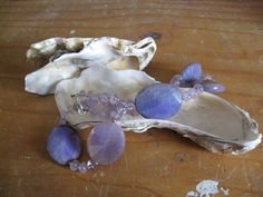 Agate and Amethyst silver purple necklace by madebymirjam on Etsy, €37.00