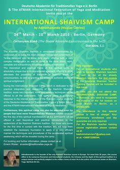 International Shaivism Camp by Nicolae Catrina (Adinathananda) 24th March - 28th March 2016 Berlin, Germany