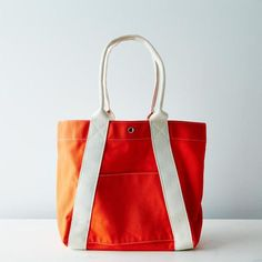 Canvas A-Frame Tote: A good sturdy bag is always in style.  #food52