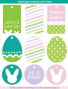 Printable easter tags craftbnb easter legends and poem negle Image collections