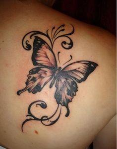 15 gorgeous shoulder butterfly tattoo desgns - Tätowierungen - Tattoo World Realistic Butterfly Tattoo, Butterfly Tattoo On Shoulder, Butterfly Tattoos For Women, Butterfly Tattoo Designs, Shoulder Tattoos, Semicolon Butterfly, Monarch Butterfly Tattoo, Big Butterfly, Arm Tattoo