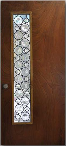 front entry doors mouth blown rondels hand crafted leaded glass panel to create this