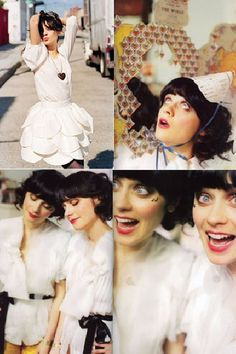 Zooey. Beautiful, funny, smart....all things that i aspire to be. What an inspiration