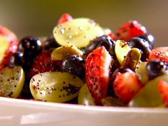 Fruit Salad with Poppy Seed Dressing Recipe : Sunny Anderson : Recipes : Food Network Fruit Recipes, Healthy Recipes, Salad Recipes, Chef Recipes, Easter Recipes, Healthy Options, Yummy Recipes, Dessert Recipes, Cooking Channel Recipes