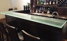 glass countertop @ higher bar area?