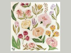 Floral Painting. Flowers from Favara. Flowers Wall by Lunartics