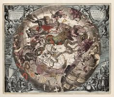 Andreas Cellarius - Hemi Scenographican Australe Hand-colored copperplate engraving
