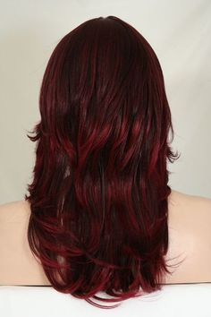 Dark brown frosted with burgundy