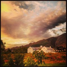 #autumn #winelands #franschhoek Cape Town Holidays, Iphone Pics, Wine Lover, Wines, South Africa, Landscapes, Scenery, Clouds, Earth