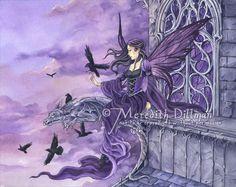 purple fairy and gargoyl