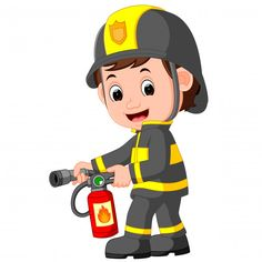 The Preschool cloud: Bomberos - The fire Brigade Nurse Clip Art, Baby Clip Art, Community Helpers Preschool, Community Workers, Flashcards For Kids, Petite Section, Art Drawings For Kids, Kids Education, Preschool Activities